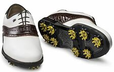 Footjoy ICON BLACK 52029 White Brown Croc Previous Season - PICK YOUR SIZE