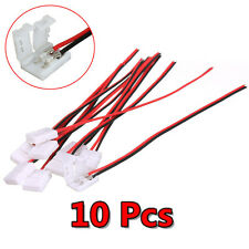 10PCS 8/10mm PCB Cable 2 Pin LED Strip Connector 3528/5050 Single Color Adapter