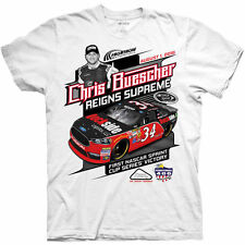 2016 CHRIS BUESCHER #34 POCONO FIRST NASCAR SPRINT CUP RACE WINNER TEE SHIRT