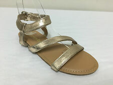 Ex Monsoon Accessorize Gold Lucy Sandals Strappy Summer Shoes RRP £32.00