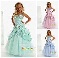 Flower Girl Dress for Wedding Bridesmaids Prom Ball Gown Pageant Birthday green