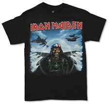 "IRON MAIDEN ""JET FIGHTER"" BLACK T-SHIRT NEW OFFICIAL ADULT ED AMERICAN FLAG"