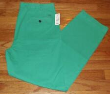 NWT Mens Brooks Brothers Flat Front Clark Fit Garment-Dyed Chinos Green *V6