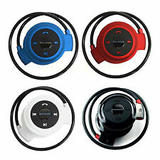 Wireless Stereo Bluetooth Headset A2DP Earphone Support FM Radio &TF Card Reader
