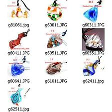 ggggm01 wholesale 10pcs Murano Lampwork Glass  Pendant Necklace Cord Jewelry