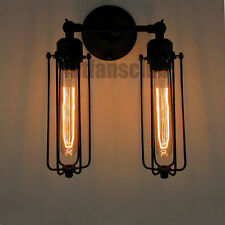 Vintage Retro Wall Lamp Shade Industrial Light Metal Handmade Bulb Screw E27 #22