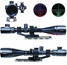 6-24X50 AOEG Rifle Scope illuminated Reticle +Green Laser Sight+Tri-rail Mount Z