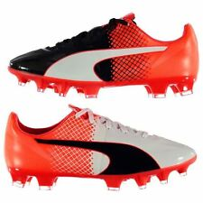 Puma Kids evoSpeed 1 Firm Ground Football Boots Junior Lace Up Sports Shoes