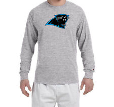 Carolina Panthers Champion LONG SLEEVE T-Shirt Mens Tagless T Shirt