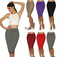 Sexy Women Ladies Bodycon Elegant Business Casual Straight Pencil Skirt TXWD
