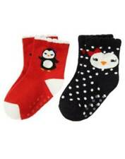 NWT Gymboree Girls Winter Penguin 2-pack Socks Size 0-6 M