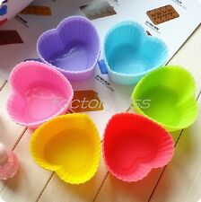 DIY Silicone Cake Muffin Chocolate Cupcake Case Liner Baking Cup Mould 7CM QBA