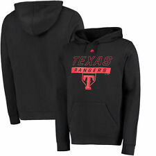 Texas Rangers Majestic Ready and Able Pop Logo Pullover Hoodie - Black - MLB