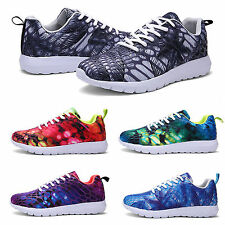Unisex Mens Running Trainers Womens Fitness Gym Sports Comfy Lace Up Shoes Size