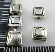 60/500pcs Tibetan silver Flat rectangle Spacer Beads 3x6.5mm  (Lead-free)