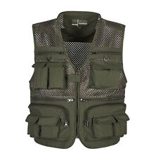 Multi Pocket Fishing Photography Hunting Mesh Vest Summer Outdoor Travel Jacket