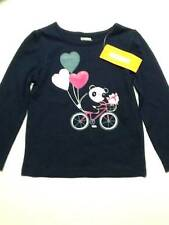 NWT Gymboree Girls Happy Panda Balloons Bicycle Navy Blue Top Size 12-18 2T & 3T