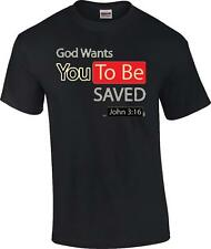 TALL Christian God Wants You To Be Saved Religious T-Shirt