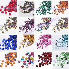 Wholesale SS10-16 Hot fix Rhinestones Crystal Flatback Nail Art Color 3mm-6mm