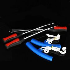Three Spoon Motorcycle Tire Levers Irons Changing Tool With Blue Rim Protector