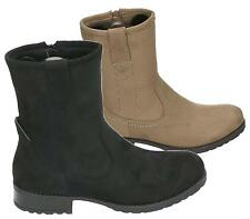 WOMENS COMBAT STYLE ZIP UP WORKER MILITARY ANKLE BOOTS GRIP SOLE SHOES SIZE