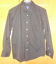 ARROW Black DRESS SHIRT Boys SZ 16 LONG SLEEVE