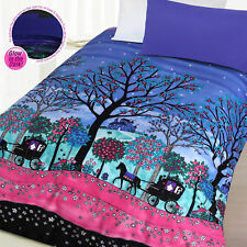 Glow In the Dark Enchanted Forest Quilt Doona Duvet Cover Set - SINGLE DOUBLE