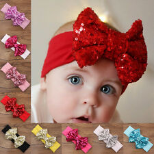 Fashion Baby Newborn Girls Hair Band Sequined Bow Headband Turban Hair Headwear
