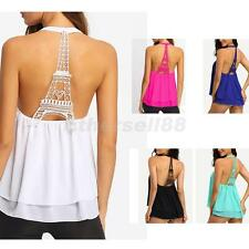 Sexy Women's Halter Backless Vest Tank Tops Cami Beach Sleeveless Blouse T-shirt