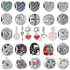 New Bling Crystals Charm Bead For Diy Fashion Woman 925 Sterling Silver Bracelet