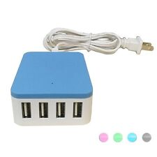4 Port Desktop Smart USB Wall Charger Portable Home Travel 5A AC Power Adapter
