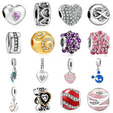 2016New European Silver CZ Charm Beads Fit sterling 925 Necklace Bracelet Chain