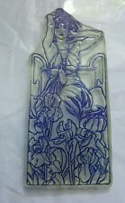 CLARITY STAMPS Amethyst art deco lady with irises.  Beautiful VGC rubber stamp