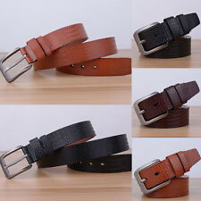 Fashion Men Casual Waistband Faux Leather Metal Pin Buckle Belt Waist Strap Hot
