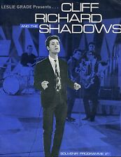 CLIFF RICHARD AND THE SHADOWS   TOUR  PROGRAMME  MID 1960'S