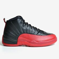 AIR JORDAN 12 RETRO FLU GAME 2016 BLACK VARSITY RED BRED XII DS NIKE 130690-002