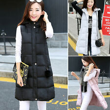 Korean Women Winter Warm Hood Slim Vest Down Jacket Overcoat Parka Coat Outwear