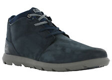 CAT Caterpillar Transcend Navy Mens Leather Suede Fashion Ankle Trainers Shoes