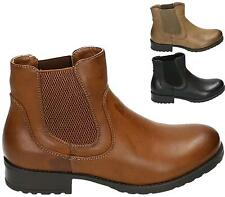 LADIES BOOTS WOMENS GIRLS CHELSEA BLOCK FLAT HEEL ANKLE BOOTS WORK SHOES SIZE