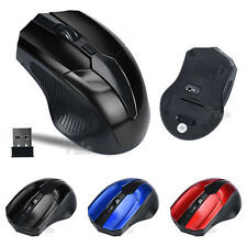 10m Wireless USB Optical 2.4GHz 4 Keys Mouse Cordless Mice For Laptop 3-Colors