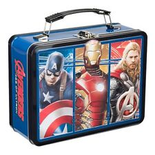 26570 Marvel  Avengers Lunch Box Large Tin Tote Lunch box Super Heroes Comic