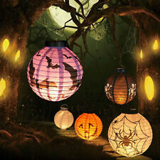 LED Paper Lantern Pumpkin Spider Bat Hanging Light Halloween Party Decor mh