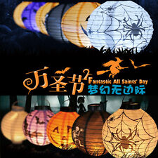 LED Paper Lantern Pumpkin Spider Hanging Light Lamp Halloween Party Decor mh