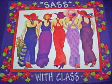 LONG SLEEVE PURPLE T-SHIRT W/ RED HAT LADIES OF SOCIETY
