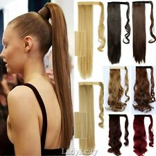 Fashion Pony Tail Fake Hair Extension Clip In Ponytail Wavy Women Hairpiece TG5