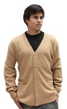 Mens Alpaca Wool Golf Cardigan Sweater V-Neck Button Down Coat