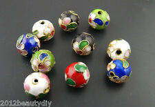 Wholesale Cloisonne Ball Spacer Beads Assorted Colors 10mm