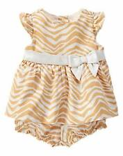 NWT Gymboree Girls Savanna Party Zebra Dress Set Size 0-3-6-12-18-24 M