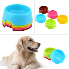 Plastic Pet Feeder Dishes Dog Cat Puppy Food Feeding Water Bowl Multi-color New