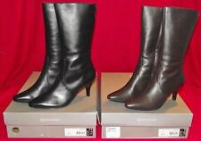 NEW NIB Rockport Womens Comfort Craving Mid Leather Boots Black or Dark Brown